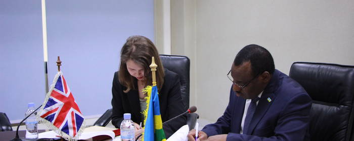 Rwanda and UK/DFID sign Development Partnership Agreement for 2 years